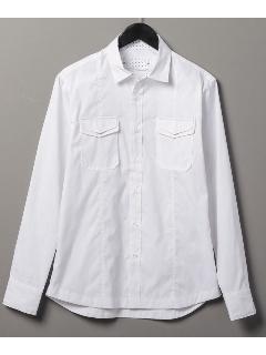 星柄ホワイトシャツ