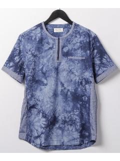 ジップポイント半袖クルーシャツ