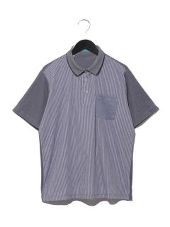 【MAG】前身布帛切替ポロシャツ
