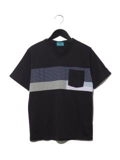 【MAG】胸切替VネックTシャツ
