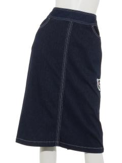 コスモパッチヘリンボンデニムスカート
