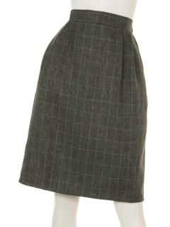 メランジチェックタイトスカート