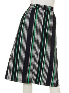 ダイアゴナルストライプスリットスカート