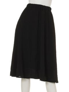 ワッシャーボーダーギャザースカート