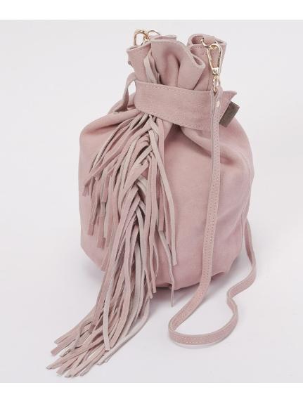 57%OFF Laugoa (ラウゴア) レディース Anemone巾着ショルダーバッグ ピンク F