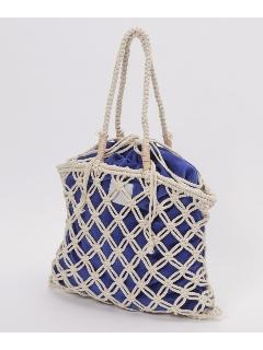 マクラメ編みトートバッグMer