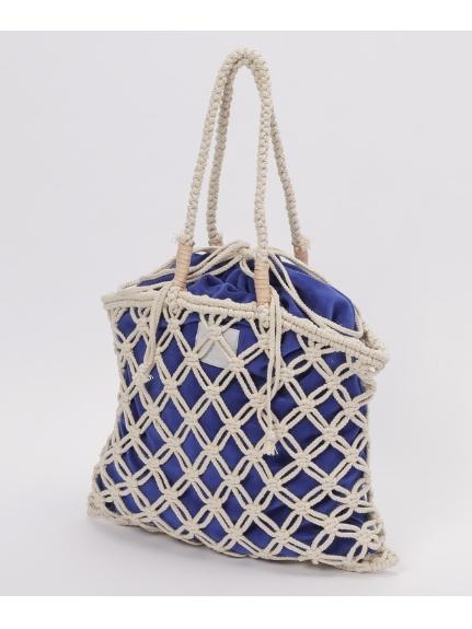 LAUGOA (ラウゴア) マクラメ編みトートバッグMer ホワイト