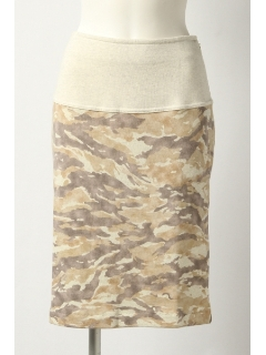 カモフラプリントスカート