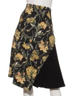 サイドフレアアシメスカート