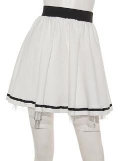チュール×ポンチスカート