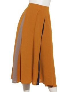パードカラーフレアスカート