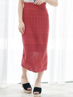マルチクロシェミディスカート