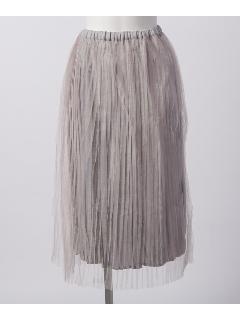 ラメチュールプリーツスカート