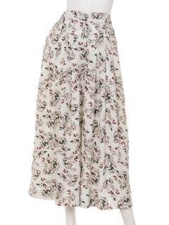 花柄タックボリュームスカーチョ