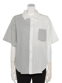 半分半袖シャツ