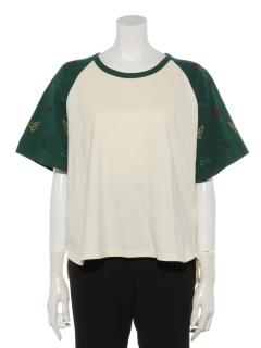 袖刺繍ラグランTEE(フラッグ)