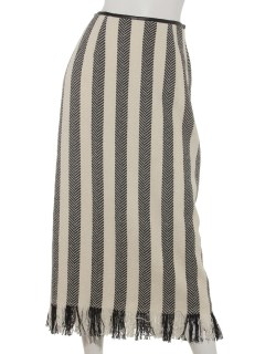 ヘリンボンストライプタイトスカート