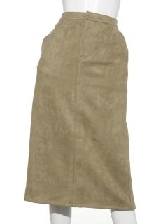 ポンチスエードナロースカート
