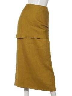 ツイルリネンノットスカート