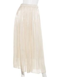 オーロラサテンギャザーマキシスカート