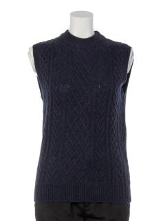 模様編みベスト