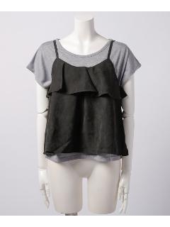 フリルキャミ×Tシャツセット