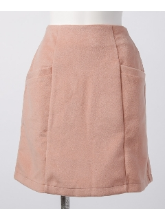無地シャギー台形スカート
