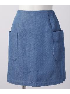 デニムデカポケ台形スカート