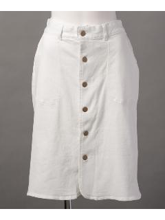 ストレッチデニム前開きタイトスカート