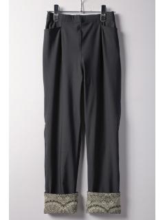ハイテンション裾ターンバックパンツ