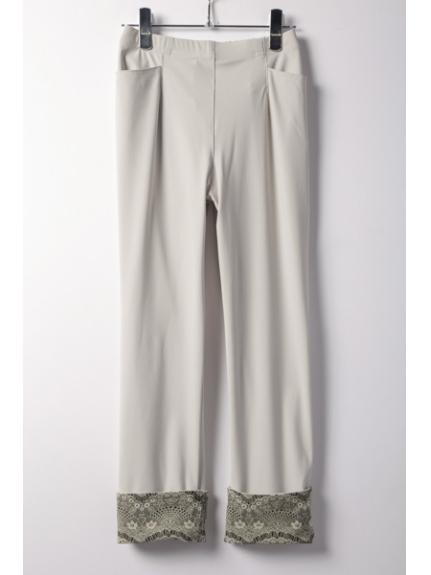 Fullheart (フルハート) ハイテンション裾ターンバックパンツ アイボリー