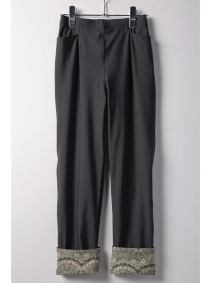 Fullheart (フルハート) ハイテンション裾ターンバックパンツ ブラック