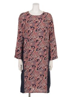 ペイズリープリントドレス