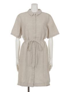 ソリッドシャツドレス