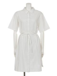 ソリッドポプリンシャツドレス
