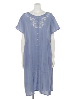 フローラル刺繍ドレス