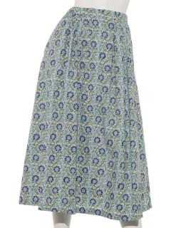 ボタニカルブロックプリントスカート