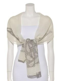 ウールクロス刺繍ショール