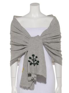 ウールツリー刺繍ショール