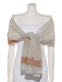 シルクウールリーフ刺繍ショール