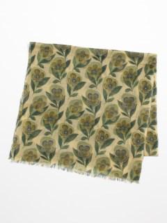 ウール花柄PTショール