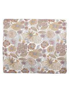 シルク花柄スカーフ