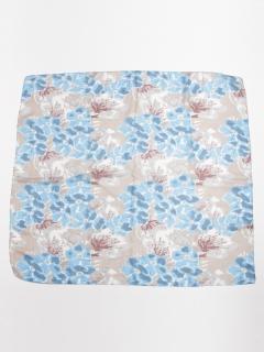 シルクフラワープリントスカーフ