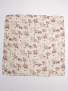 サファリプリントシルクスカーフ