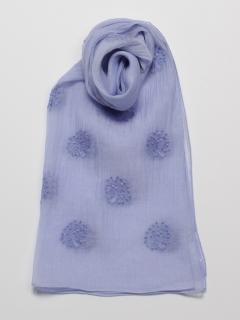 シルク混ツリー刺繍ストール