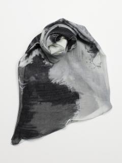 レーヨン抽象画ストール