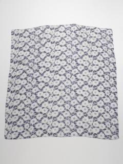 シルク花柄プリントスカーフ