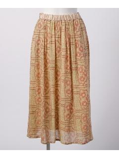 クリンクルフラワーギャザースカート