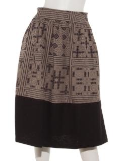 モン族プリントスカート