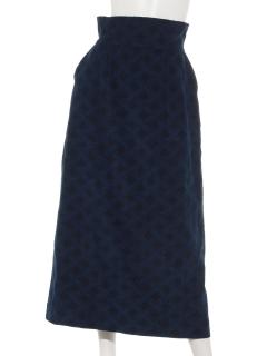 コーデュロイクバチェックタイトスカート